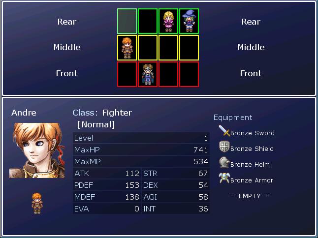 Rpg Maker Xp Custom Battle Scripts: Scene_RowChanger [RMXP]