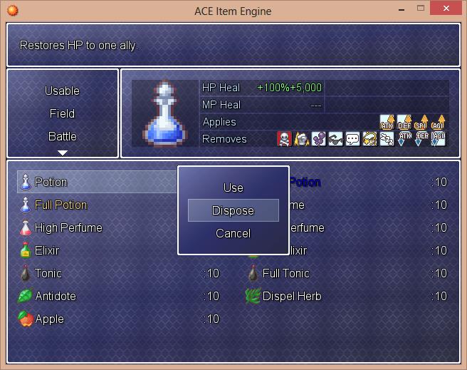 Rpg Maker Xp Custom Battle Scripts: Custom Menu Scripts